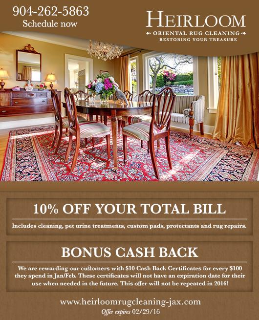 Bonus Cash Back Plus 10 Off Heirloom Oriental Rug
